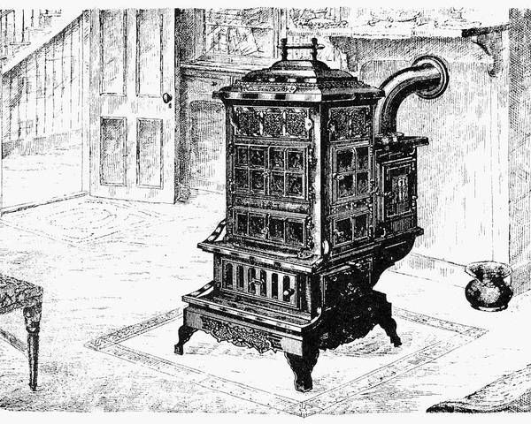 1880 Poster featuring the drawing Magazine Stove, 1880 by Granger