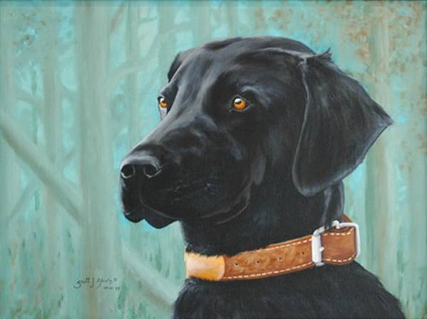 Dog Poster featuring the painting Maggie by Scott Alcorn
