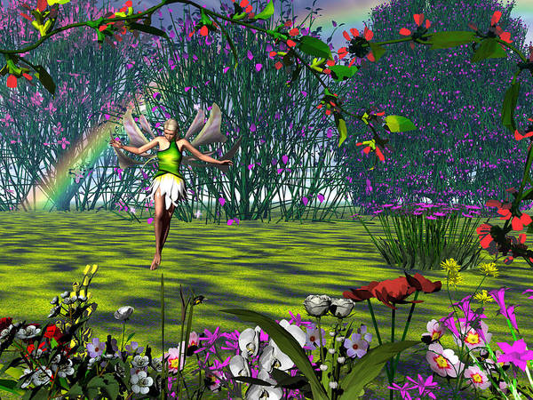 Fantasy Poster featuring the digital art Magic Garden by Michele Wilson