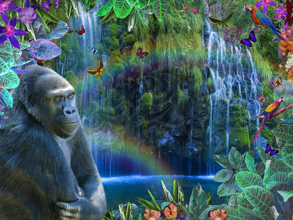 Alixandra Mullins Poster featuring the photograph Magic Jungle by Alixandra Mullins