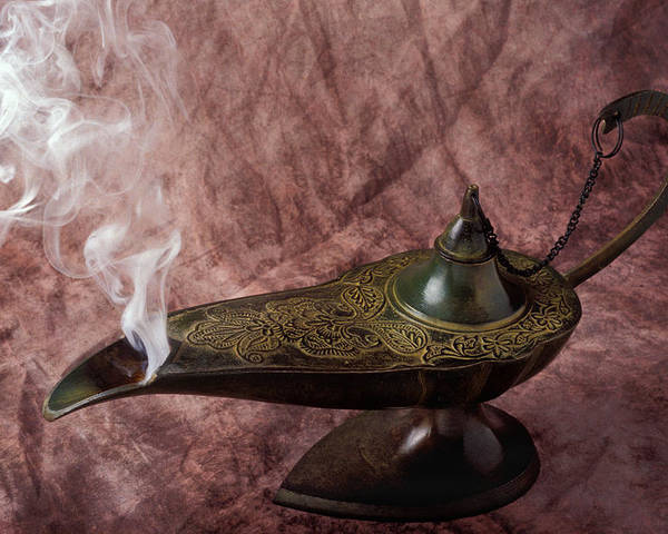 Lamp Poster featuring the photograph Magic Lamp by Garry Gay