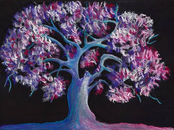 Malakhova Poster featuring the drawing Magic Tree by Anastasiya Malakhova