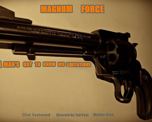Magnum Force Poster featuring the photograph Magnum Force Custom by Movie Poster Prints