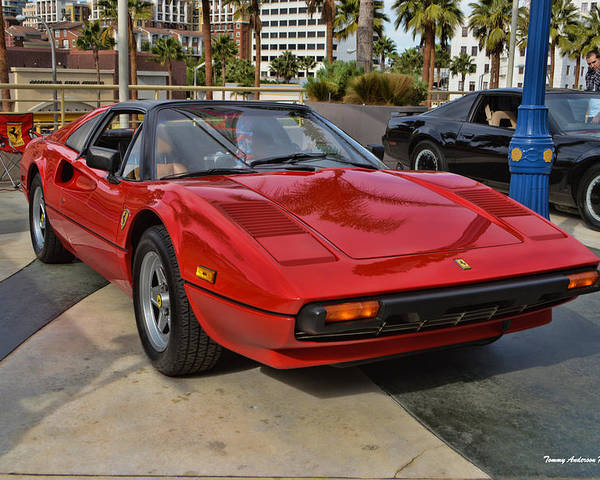 Ferrari 308 Gtb Poster featuring the photograph Magnum Pi by Tommy Anderson