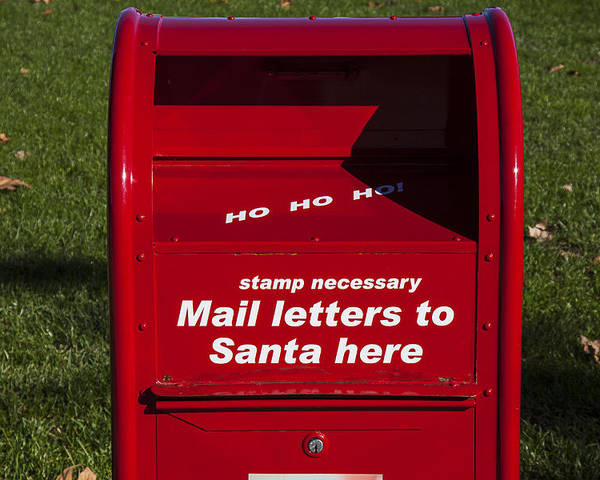 Mail Letters To Santa Here Poster featuring the photograph Mail Letters To Santa Here by Garry Gay