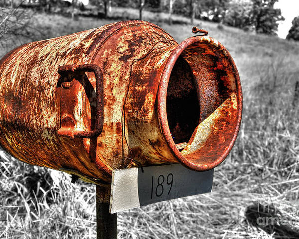 Photography Poster featuring the photograph Mailbox With Character by Kaye Menner