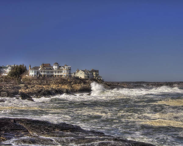 Water Poster featuring the photograph Main Coastline by Joann Vitali