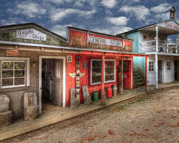 Appalachia Poster featuring the photograph Main Street by Debra and Dave Vanderlaan