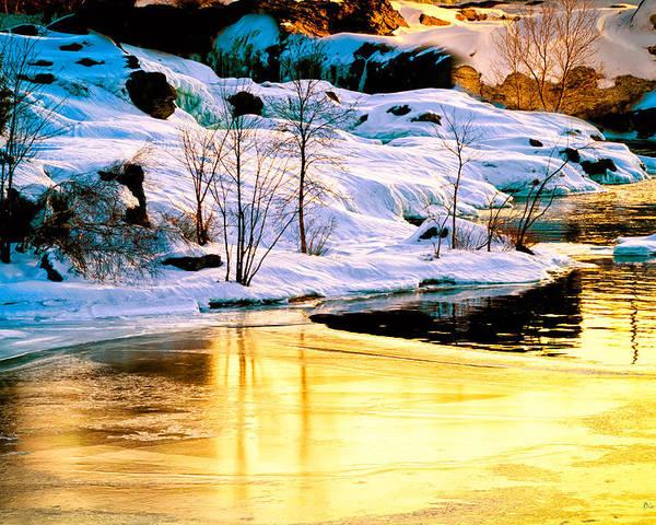 Androscoggin River Poster featuring the photograph Maine Winter Along The Androscoggin River by Bob Orsillo