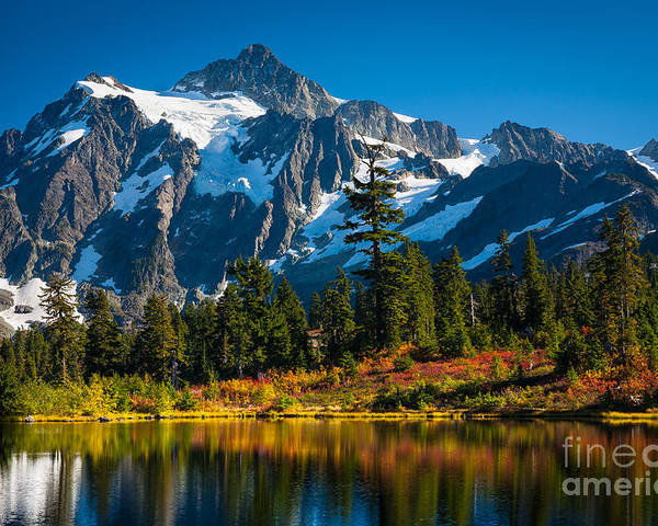 America Poster featuring the photograph Majestic Mount Shuksan by Inge Johnsson