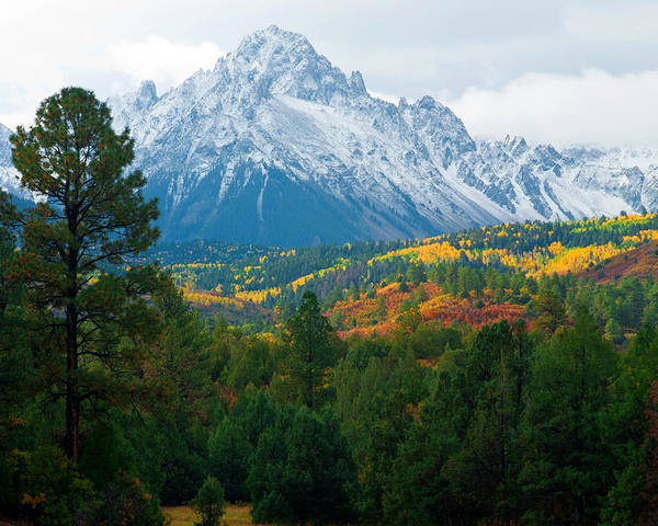 Autumn Photographs Poster featuring the photograph Majestic Mt. Sneffels by John Hoffman
