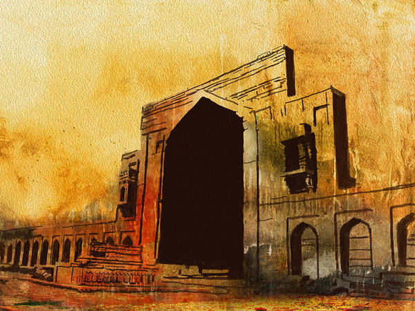 Pakistan Poster featuring the painting Makli Hill by Catf