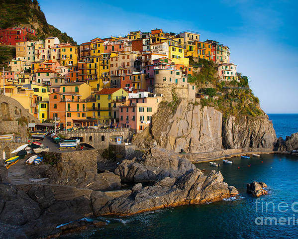 Architectural Poster featuring the photograph Manarola by Inge Johnsson