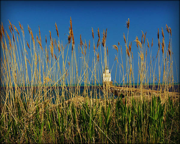 Collections By Carol Poster featuring the photograph Manitowoc Breakwater Lighthouse Manitowoc Wi by Carol Toepke