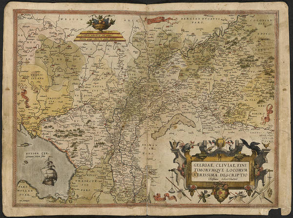 Holland Poster featuring the photograph Map Of Gelderland And Cleves by British Library