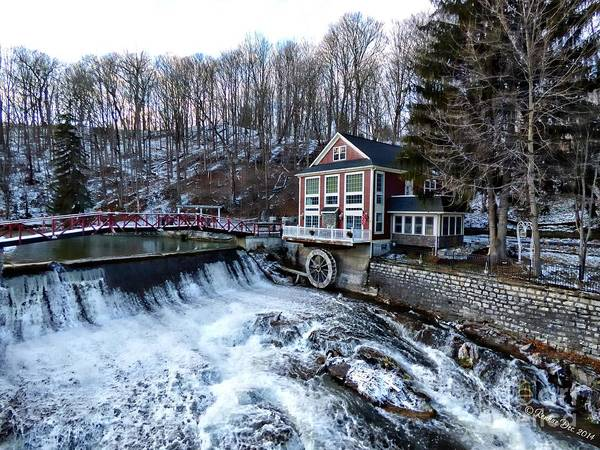 Landscape Poster featuring the photograph Marcellus Falls llll by Rennae Christman
