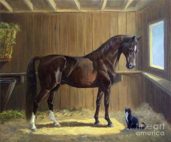 Morgan Horse Poster featuring the painting Marco And Sneaker by Jeanne Newton Schoborg