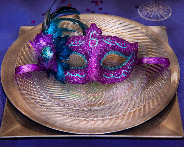 Mardi Gras Poster featuring the photograph Mardi Gras Theme - Surprise Guest by Mike Savad