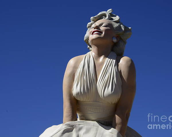 Marilyn Monroe Poster featuring the photograph Marilyn Monroe Statue 2 by Bob Christopher