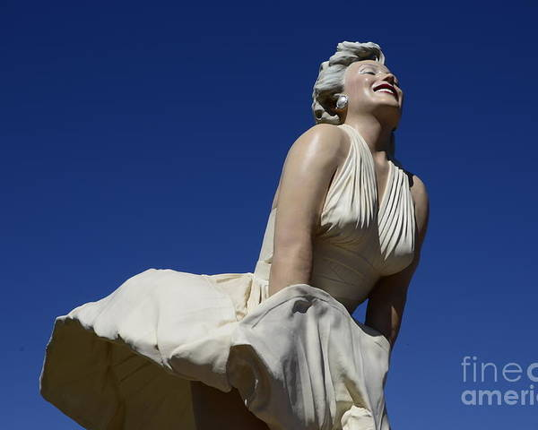Marilyn Monroe Poster featuring the photograph Marilyn Monroe Statue 3 by Bob Christopher