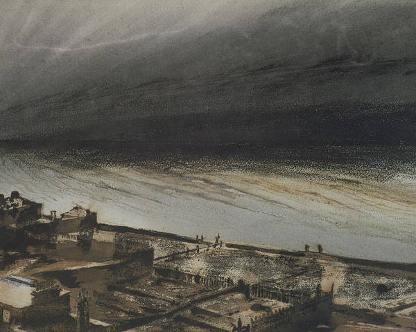 Marine Poster featuring the painting Marine Terrace In Jersey by Victor Hugo