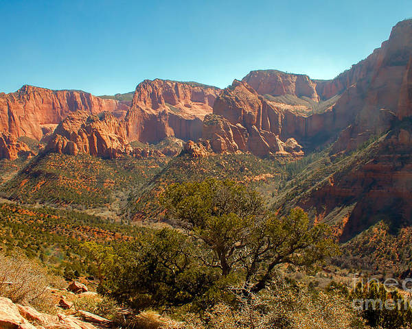 Zion National Parks Poster featuring the photograph Markaqunt Mesa In Kolob by Robert Bales