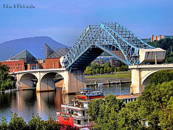 Bridge Poster featuring the photograph Market Street Bridge Rising by Shelley King Jr