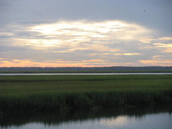 Marsh Poster featuring the photograph Marsh Sunset 1 by Ellen Meakin
