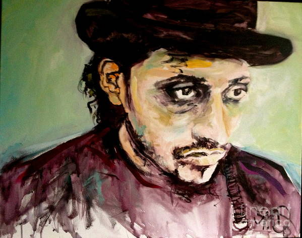 Portrait Poster featuring the painting Martin Grech by Michelle Dommer