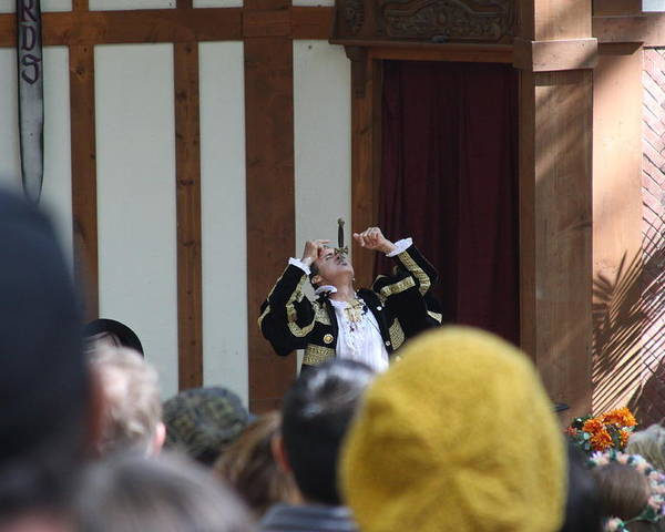 Maryland Poster featuring the photograph Maryland Renaissance Festival - Johnny Fox Sword Swallower - 121257 by DC Photographer