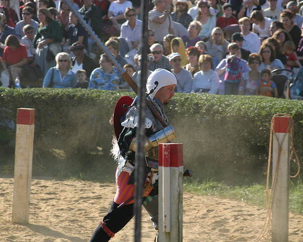 Maryland Poster featuring the photograph Maryland Renaissance Festival - Jousting And Sword Fighting - 1212119 by DC Photographer