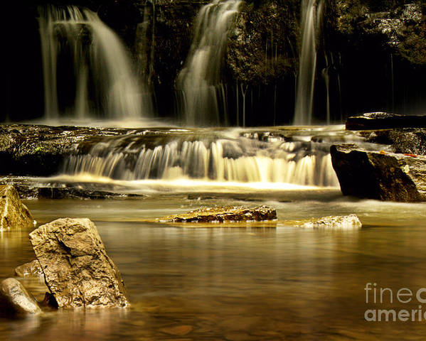 Waterfall Poster featuring the photograph Mash Fork Falls by Melissa Petrey
