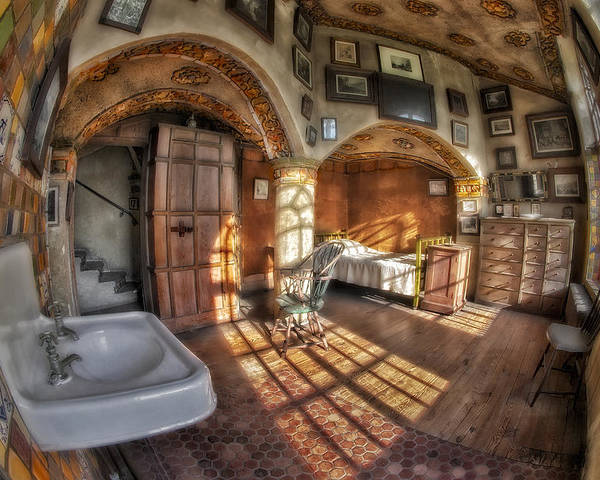 Byzantine Poster featuring the photograph Master Bedroom At Fonthill Castle by Susan Candelario