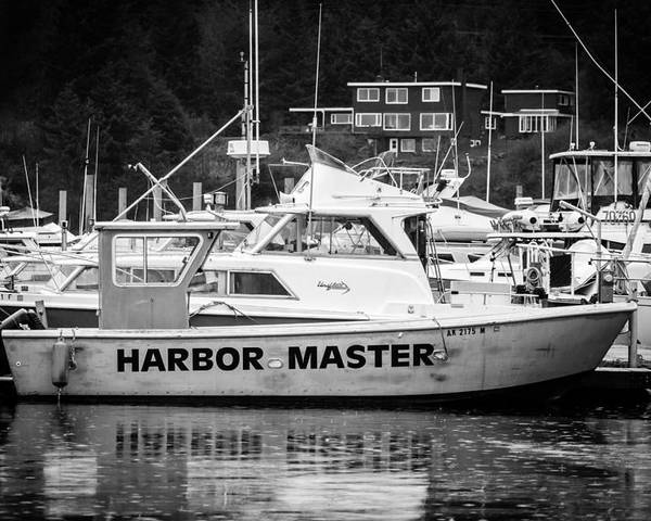 Transportation Poster featuring the photograph Master Of The Harbor by Melinda Ledsome