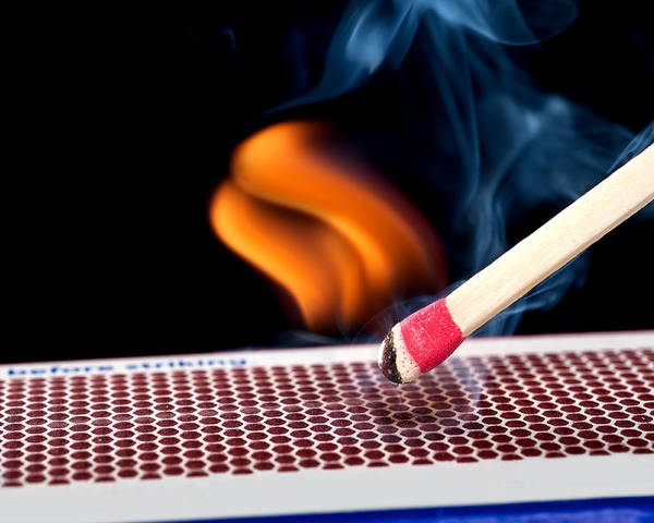 Matchstick Poster featuring the photograph Matchstick On Fire by Joe Belanger