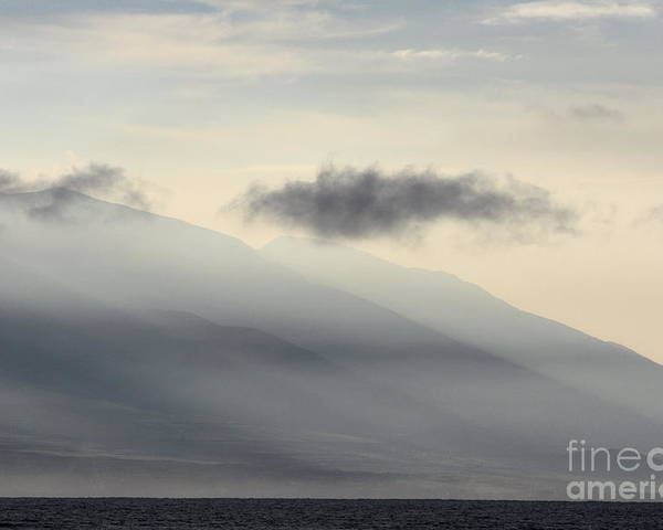 Maui In Gray Poster featuring the photograph Maui In Gray by Fred Sheridan