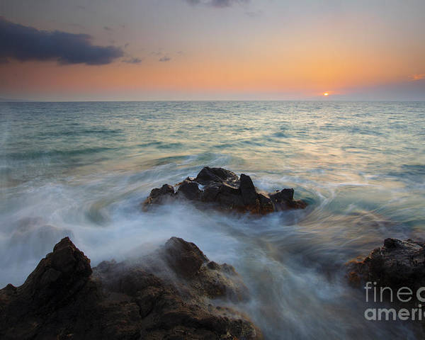 Maui Poster featuring the photograph Maui Tidal Swirl by Mike Dawson
