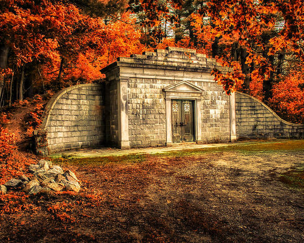 Mausoleum Poster featuring the photograph Mausoleum by Bob Orsillo