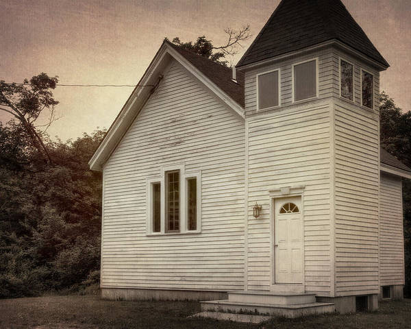 Architectural Poster featuring the photograph Maybe A Church by Joan Carroll