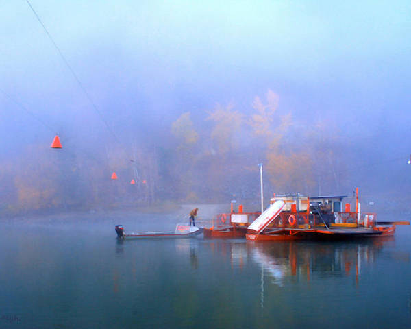 Beautiful British Columbia Poster featuring the photograph Mcclure Ferry by Theresa Tahara