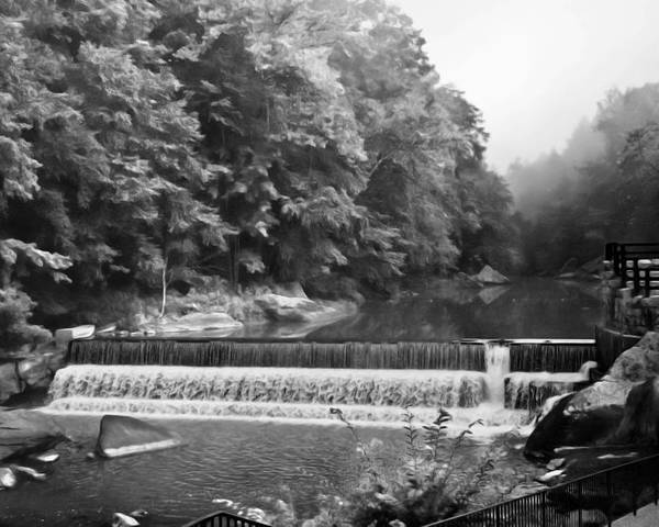 Water Scenes Poster featuring the photograph Mcconnell Mills B W Wat 255 by G L Sarti