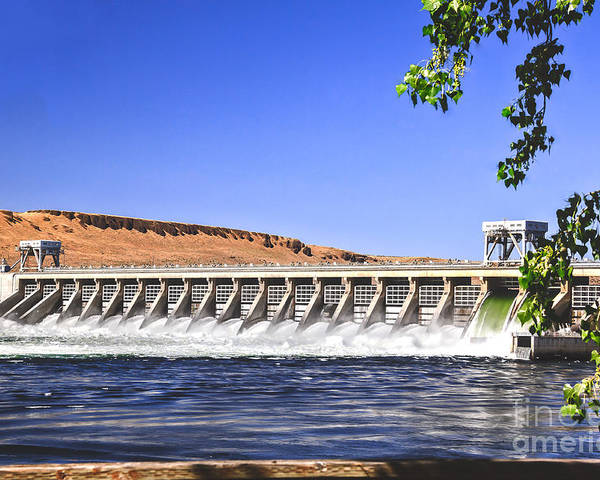Dam Poster featuring the photograph Mcnary Hydroelectric Dam by Robert Bales