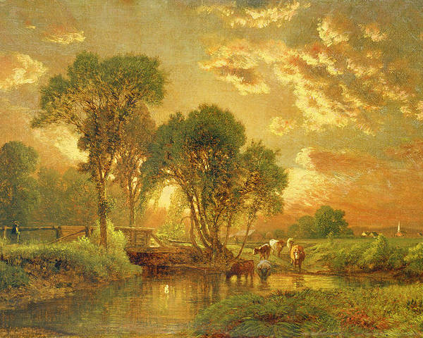 Inness Poster featuring the painting Medfield Massachusetts by Inness