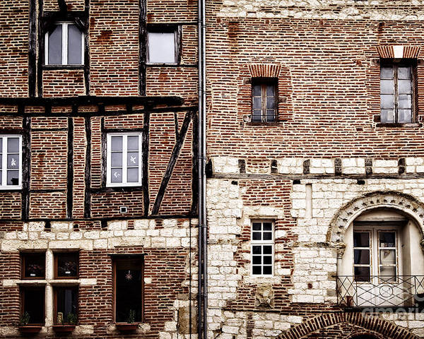 Albi Poster featuring the photograph Medieval Houses In Albi France by Elena Elisseeva
