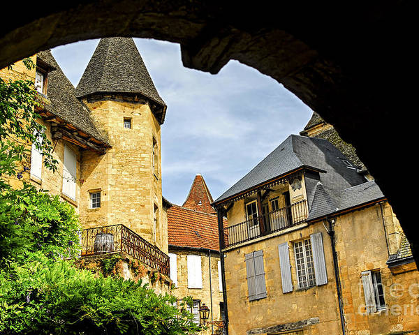 Sarlat Poster featuring the photograph Medieval Sarlat by Elena Elisseeva