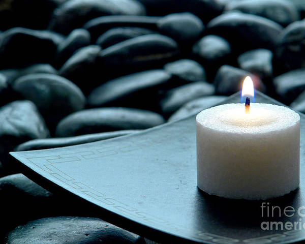 Candle Poster featuring the photograph Meditation by Olivier Le Queinec