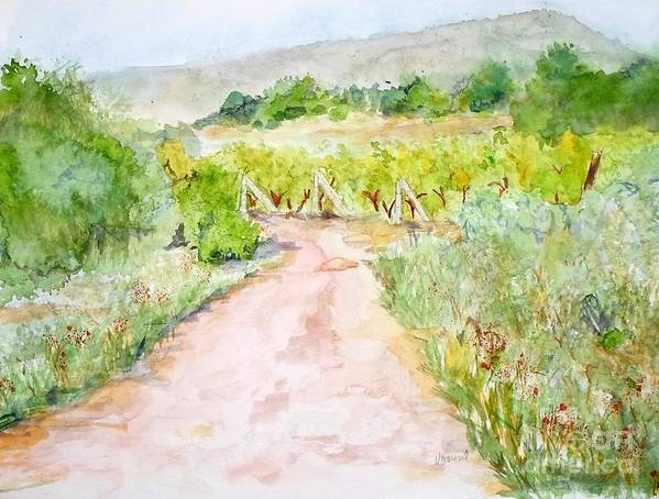 Path Poster featuring the painting Medjugorje Path To Apparition Hill by Vicki Housel