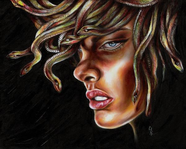 Medusa Poster featuring the painting Medusa No. One by Hiroko Sakai