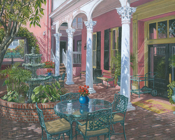 Painting For Sale Poster featuring the painting Meeting Street Inn Charleston by Richard Harpum