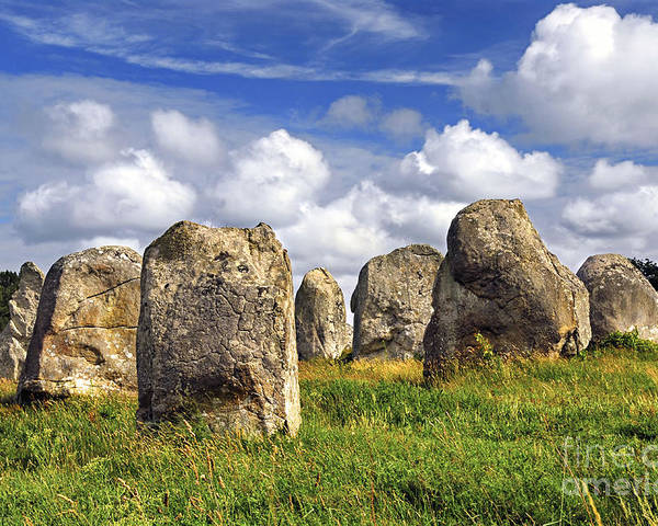 Megalith Poster featuring the photograph Megalithic Monuments In Brittany by Elena Elisseeva